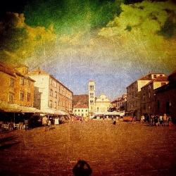 Town Square #edit - - Fine Art