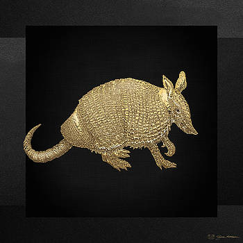 Serge Averbukh - Gold Armadillo on Black Canvas